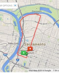 5 mile loop though old sac